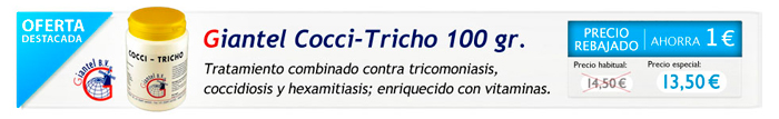 Oferta Giantel Cocci Tricho, palomas y pájaros