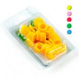 Anillas elásticas de colorees, (altamente resistentes y fáciles de colocar)