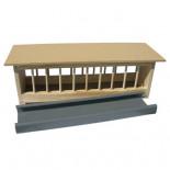 Accesorios para palomas: Comedero de madera con bandeja antibacterias, 50 cm