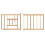 Puerta-Frontal, de madera contrachapada y barrotes de plástico, para jaulas y nidales
