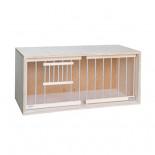 Nidal modelo Premium, fabricado en madera contrachapada y con barrotes de aluminio.