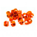 Pigeons supplies & accessories: 50 NUMBERED Plastic pigeon rings (8x5mm) (clip on type).