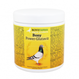 Pigeons Produts and Supplies: Bony Glutavit 300gr, (well balanced mixture of meadow-protein, multivitamins, vitamins, minerals and trace elements)