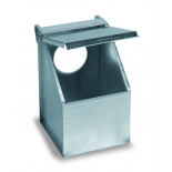 Copele Galvanized outdoor feeder, single hole with cover. For pigeons and partridges.