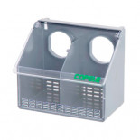 Copele Plastic outdoor feeder, double hole with cover. For pigeons and partridges.