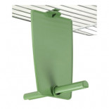 STA Perch Vertical Rada, with dividing wall and upper hook (colour green)