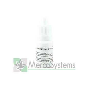 Endectocid (Ivermectin) 1% 10 ml, (elimina ácaros y demás parásitos externos). Palomas