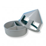 Pigeon supplies and accessories: Grit feeder with 3 separate compartments