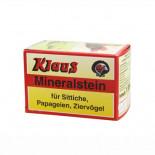 piedra de picar para pájaros: Klaus Mineralstein 470 gr, (bloque de minerales enriquecido con calcio y fósforo). Para pájaros