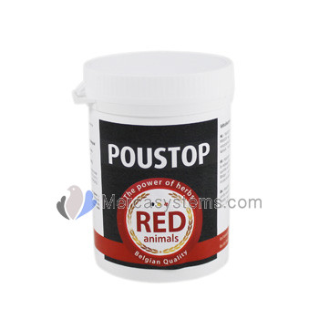 The Red Pigeon Poustop 100 gr, (spectacular product, 100% natural,  against fleas and lice.).