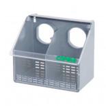 Copele Alimentateur extérieur en plastique, double trou avec couvercle. Pour les pigeons et les perdrix.