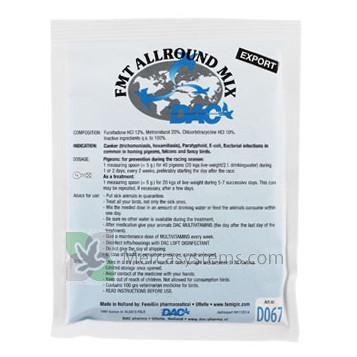 DAC FMT Allround Mix, 100 gr. (5 in 1 antibiotoc). Per i Piccioni Viaggiatori.