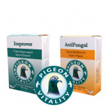Bespaart 2 €: Kit Improver + Antifungal, door Pigeon Vitality, (de perfecte combinatie)