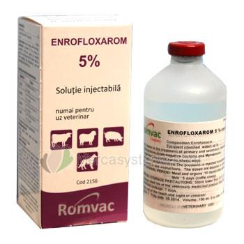 Enrofloxarom 5% 100ml, (injizierbare Enrofloxacine), (Breites Spektrum Behandlung). Tauben und Vögel